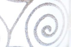 Balance (haberlea) Tags: home bauble balance christmas spiral glass glitter macromonday macro