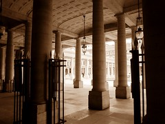 Columns (sturkster) Tags: a1200 canona1200 canonpowershota1200 canon column photoscape powershot paris sepia trip2017 france europe palaisroyal monochrome architecture