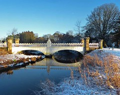Eglinton Park Snow Bridge1 (g crawford) Tags: eglinton eglintoncountrypark eglintonpark park ayrshire northayrshire kilwinning crawford snow white winter weather cold bridge bridges river water burn reflection reflect reflecting