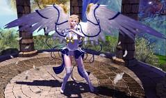 Angel of the Winds (LiangScorpio) Tags: angel sailor uranus sailormoon secondlife sl haruka wings feathers