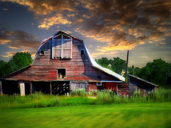 The barn 6 (mrbillt6) Tags: landscape rural prairie barn farm grass trees sky summer photoart scenic outdoors country countryside northdakota