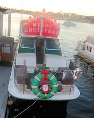 005 SS Merry Christmas (saschmitz_earthlink_net) Tags: 2018 california marinadelrey boat parade marinadelreyboatparade christmasparty suez