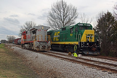 NERR 8531, East Yard, Lebanon, TN, 02-07-19 (mikeball1374) Tags: nashvilleandeastern nerr nashville tennessee lebanon ge b408w b398e shortline longhoodforward train transportation trainphotography trains railfanning railroad photography warbonnet widecab