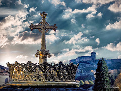 Lourdes, France (USS Nostromo) Tags: photohopexpress lourdes cross church catholic faith