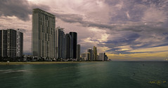 Arriving late in the afternoon on the coast. (Aglez the city guy ☺) Tags: lateafternoon architecture afternoon navigating colors clouds urbanexploration seacoast beach sunnyislesbeach cityscapes miamifl seashore seascape seagull outdoors