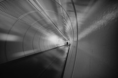 ...beneaththestreets... (*ines_maria) Tags: vienna city urban urbanart tube architecture person future light perspective run indoors monochrome bw business end 18 2018 panasonic dcgh5 u1 metro underground structure reflections modern transport white