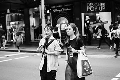 POP UP (McLovin 2.0) Tags: portrait candid urban city crossing sydney australia street streetphotography bw blackandwhite sony a7r zeiss 55mm bokeh style fashion summer friends