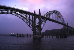 Newport Bridge Drama (kephart_kyle) Tags: 2017 clouds coast dark fog myterious oregon summer travel