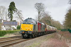 To the scrapman. 37884 dragging 314206 5Q76 2226 Shields T.M.D. (E) to Newport Docks (Simsgroup) at Abergavenny 15.03.2019 (1) (The Cwmbran Creature.) Tags: british rail class train trains railway marches wales 37 emu 314