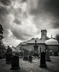Durisdeer Church (TrotterFechan) Tags: durisdeer church cemetary blackwhite headstone gravestones