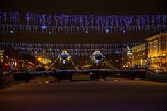 Pont Lomonossov, Saint-Petersbourg (yvon.kerdavid) Tags: pont saintpetersbourg russie fontanka illuminations décoration canal