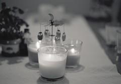Untitled (129) (La drw) Tags: candles owls light analog film pentaxme fomapan iso100 hc110 pentax 50mm