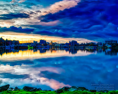 HDR of Dawn and Clouds Over Victoria Harbour, BC, Canada (AvgeekJoe) Tags: britishcolumbia canada clouds hdr importedkeywordtags sunrise victoria victoriaharbour dawn longexposure water vanguardveoam264traluminummonopod aluminummonopod vanguardam264tr am264tr monopod