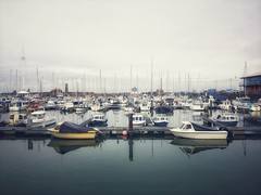 21/365 A Cold Morning At Whitehaven Harbour (Charlie Little) Tags: whitehaven harbour reflection boats cumbria solwaycoast solwayfirth cameraphone mobilephotography huawei p20pro p365 project365 leica