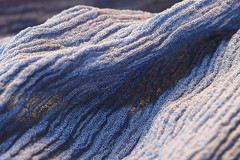 chiffon shawl (HansHolt) Tags: shawl scarf blue chiffon crepe woven texture textile macro dof canon 6d 100mm canoneos6d canonef100mmf28macrousm macromondays cloth hmm
