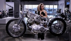 Photo Modeling (Prayitno / Thank you for (12 millions +) view) Tags: hot rod hotrod hd harley davidson motorcycle young blonde beauty beautiful sexy pretty girl female sensual bike model modeling pose posing metallic engine
