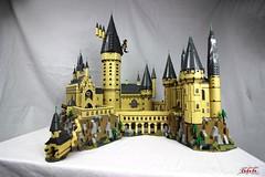 Lego Hogwarts 1 (psychosteve-2) Tags: hogwarts castle harry potter lego bricks architecture tower building