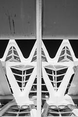 Museu de les Ciències Príncipe Felipe (3) (TAKleven) Tags: fujifilmxe2 fujifilmfujinonxf1855f2840rlmois city by architecture arkitektur blackandwhite bw sh sorthvitt abstrakt abstract valencia spain espania spania perspective perspektiv concrete betong steel stål