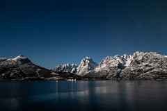 Norway (jpmiss) Tags: arctic night landscape sauvage nature norvege lofoten hurtigruten canon nuit norway paysage jpmiss auroraborealis travel mspolarlys 6d fullmoon nightscape pleinelune moonlit polar hadsel comtédenordland norvège no