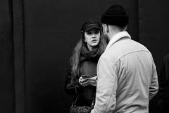 After the Text (Foto John) Tags: leica leicasl leicasl601 leicasltyp601 mirrorless leica2490mmf284asphvarioelmaritsllens streetphotography people blackwhite blackandwhite blackandwhitethatsright monochrome bw zwartwit woman man mobilephone london uk candid