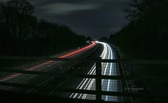 Night Lights. (-Metal-M1KE-) Tags: nightphotography nighttime light lighttrails canonef24105mmf4lisusm canon5dmark3 canon5dmkiii cars headlights sidelights warwickshire