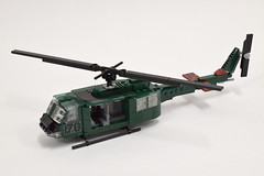 Bell UH-1D Huey (2) (Dornbi) Tags: lego rotors helicopter uh1d huey iroquois bell vietnam army us american