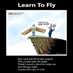 Learn To Fly - Foo Fighters (Mel_DJ) Tags: learntofly foofighters lyrics song singer songwriter cartoon politics music meme socialism lefty