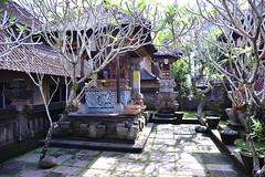 The owners of Bliss too live on the property (shankar s.) Tags: seasia indonesia java bali islandparadise baliisland touristdestination hotel lodgings accomodation resort entrance blissubudspaandbungalow ubudbali reception garland statue idol hindufaith hindureligion hinduism prayer shrine garden landscaping familytemple placeofworship