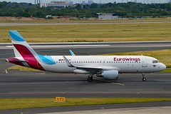 """Eurowings D-AEWS Airbus A320-214 Sharklets cn/7439 Painted in """"AVIS car hire"""" special colours 09-2018 @ EDDL / DUS 16-06-2017 (Nabil Molinari Photography) Tags: eurowings daews airbus a320214 sharklets cn7439 eddl dus 16062017"""