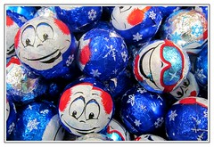 One hundred smiles :) (green_lover (I wait for your COMMENTS!)) Tags: candies balls sweets smileonsaturday onehundredsmiles food chocolate frame many blue