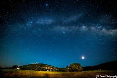 McDonald Observatory summer night landscape and Milky Way