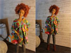 Colour my life! 💙 💚 💛 💜 (lichtspuren) Tags: barbie barbiemod curvybody collector fashionista goddessfacemold redhead colourfuldress lichtspuren