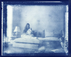 Blue afternoon (l'imagerie poétique) Tags: cyanotype largeformat alternativeprocess historicalprocess annesilver contactprinting fineart speedgraphic new55film 4x5 scannedprint