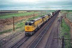 U50s at Archer Hill (Brandon R. Smith) Tags: unionpacific u50 generalelectric ge archerhill wyoming railroad train cheyenne locomotive