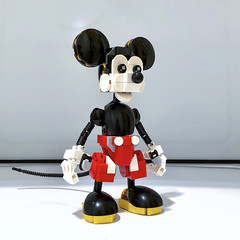 [Work in Progress] Mickey Mouse - 2019 Edition (Alex Kelley) Tags: lego moc disney mickey mouse toy design action figure replica character cartoon