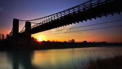 Pont de Mallemort 2 (Christophe Lejars) Tags: sky provence sunset bridge water