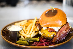 St. Jack Restaurant & Bar (Thomas Hawk) Tags: america oregon portland stjackrestaurantbar usa unitedstates unitedstatesofamerica foodporn hamburger cheeseburger frenchfries bacon stjack fav10 fav25