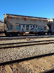 NPR -boxcar graffitti (EllenJo) Tags: npr boxcar graffiti tagged americangrafitti art arizonacentral clarkdale az