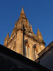 Goin' up (Ian Robin Jackson) Tags: tower spire stnicholasaberdeen church religiousbuilding sony zeiss light sky steeple blue building city urban scottishchurches religion top clock aberdeenscotland cathedral outside flickr scottish architecture old age