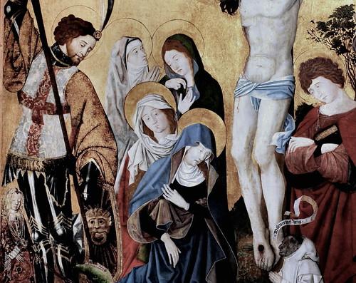 IMG_1200AB Retable de Saint Georges avec un moine chartreux. St George altarpiece with a carthusain monk Dijon Musée des Beaux Arts.