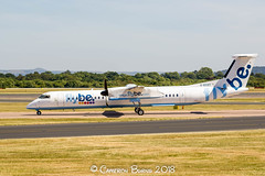 Flybe G-ECOT DHC Dash 8 Q400 (IMG_0694) (Cameron Burns) Tags: flybe be gecot bombardier dehavillandcanada dhc dash8q400 dash8 dash 8 q400 white blue red yellow propeller manchester airport manchesterairport man egcc ringway viewing park airfield aviation aerospace airliner aeroplane aircraft airplane plane canoneos550d canoneos eos550d canon550d canon eos 550d uk united kingdom unitedkingdom gb greatbritain great britain europe action