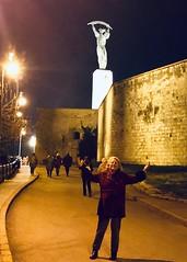 Ritsa and the Liberty Statue (RobW_) Tags: ritsa liberty statue gellert hill citadella budapest hungary amaviola danube 16nov2018 november 2018