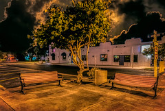 Happy Bench Monday (Jims_photos) Tags: portisabletexas texas trees texascoast unitedstates outside outdoor adobelightroom adobephotoshop shadows downtown happybenchmonday jimallen jimsphotos jimsphotoswimberleytexas lightroom benchmonday nopeople nikond750 nightphotos nightshot