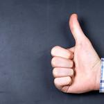Thumb up gesture thumbnail