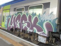 most hated crew (en-ri) Tags: stereo mesk crew viola verde bianco train torino graffiti writing 2018 goldie