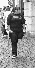 SAK Plumper (jackcast2015) Tags: handicapped disabledwoman crippledwoman crutches amputee sakamputee sakamputation sak
