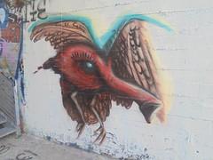 50843223_757923221247964_8357402378240000000_n (en-ri) Tags: truly design uccello brd rosso ali wings torino wall muro graffiti writing parco dora faccia face viso volto