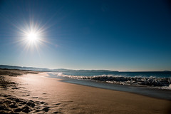 A Lanzada, O Grove (mandarinaontheroad) Tags: beach sun sunrise water playa landscape nature earth