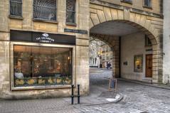 Abbey Gate Street, Bath (Baz Richardson) Tags: bath abbeygatestreet streetscenes cities archways georgianarchitecture cobbledstreets