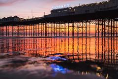 Brighton Place Pier (lomokev) Tags: brighton pier brightonpier palacepier reflection sand beach seaside canoneos5d canon eos 5d sunset